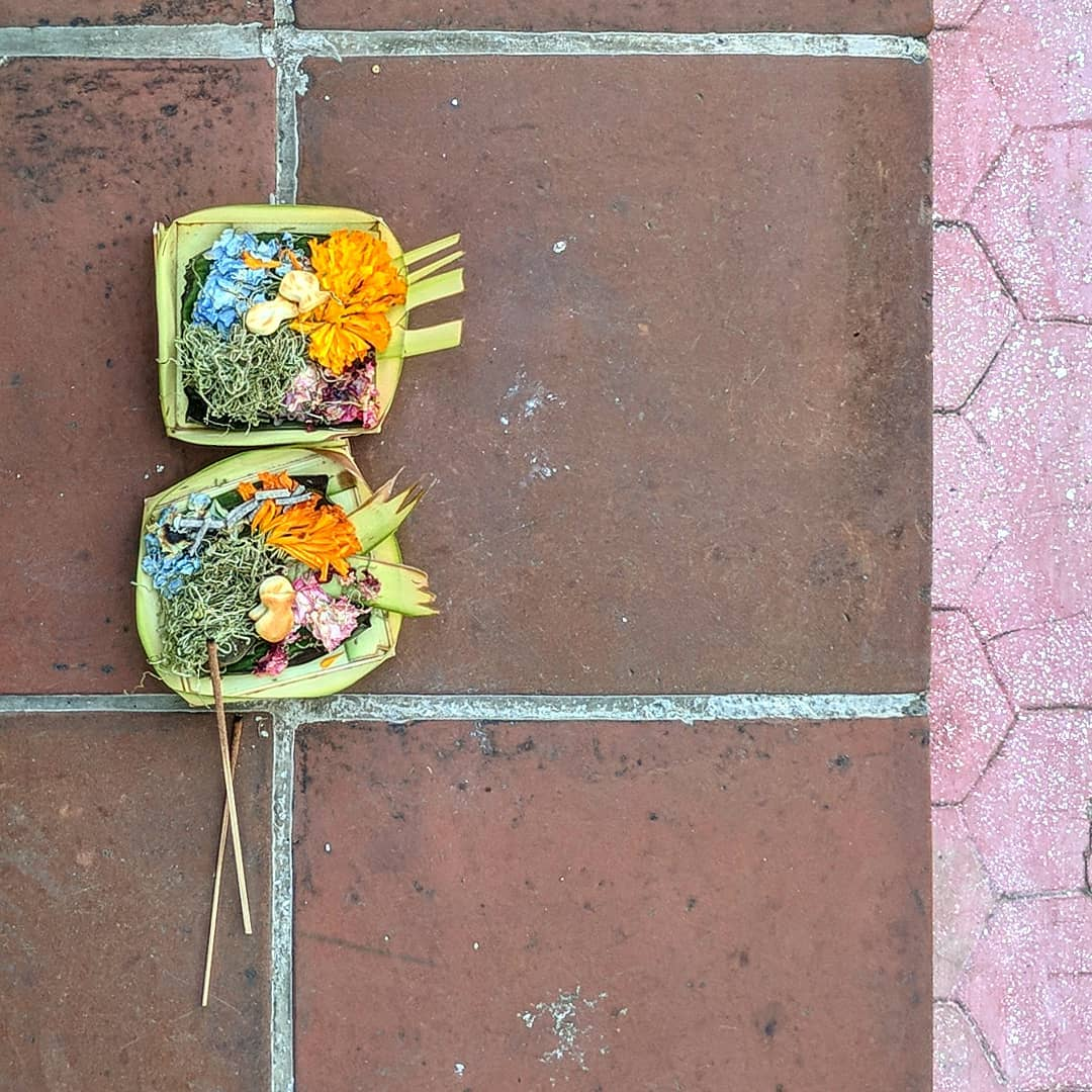 Pavement offerings in Bali