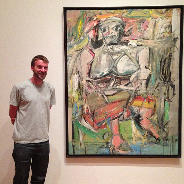 Me stood in front of a Willem de Kooning painting